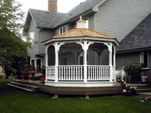 Our skilled crew of carpenters can build or repair your Decks, Gazebos & Porches project with ease and expertise, no matter how large or small the project.